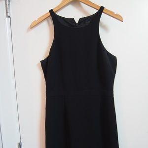 J. Crew Black Racerback Crepe Dress